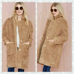 "Nasty gal ""teddy bear"" coat. SMALL"