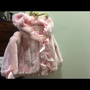 0-6 months Baby faux fur jacket