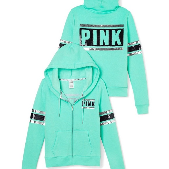 PINK Victoria's Secret - Large size VS PINK bling hoodie. from ...