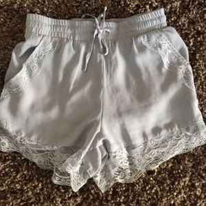RARE brandy Melville lace shorts lavender