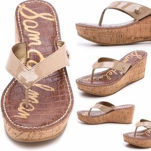 b10e1fb46351cf Sam Edelman Shoes - Sam Edelman Romy Wedge Flip Flops - Classic Nude