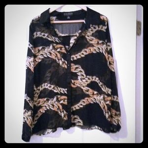 Chain link blouse