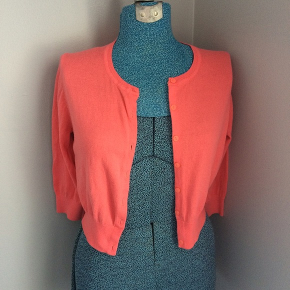 67% off Sweaters - Coral cropped cardigan from Shannon marie's ...