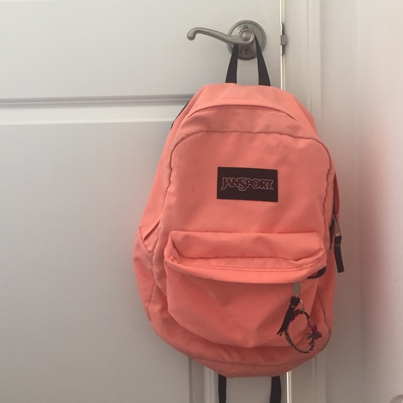 e1cd8ff6b Jansport Accessories | Neon Coral Backpack | Poshmark