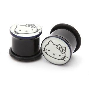 Hot Topic Jewelry - Hot Topic Hello Kitty glow in the dark plugs gauge