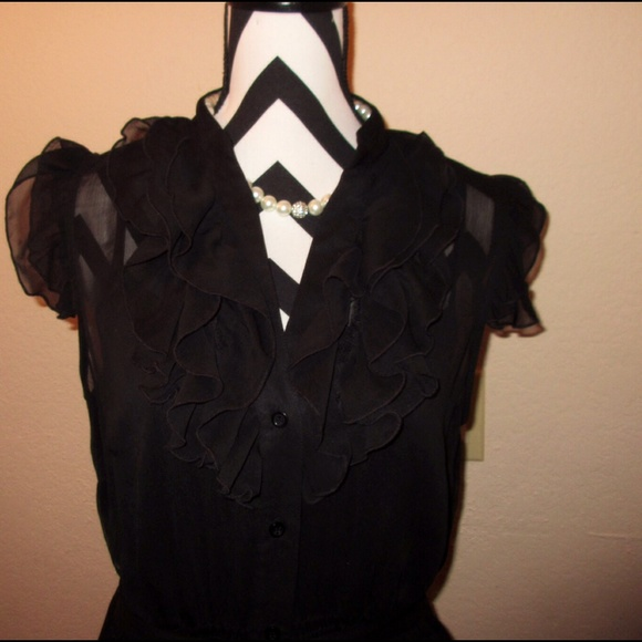 Dresses - Black Ruffle Dress💖 SOLD