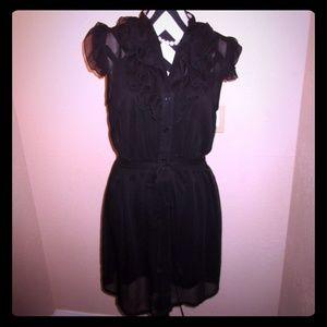 Dresses & Skirts - Black Ruffle Dress💖 SOLD
