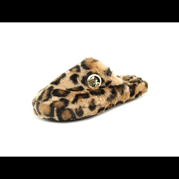 5658e82d8c2d Michael Kors leopard fur slippers BRAND NEW IN BOX