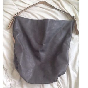 Zara Large TRF gray hobo bag