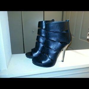 Black Bootie Heels- Aldo Parrin