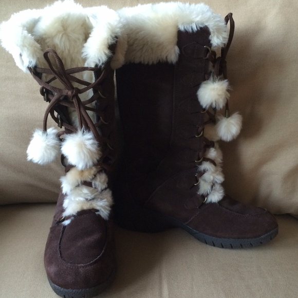 8309b3d99db Fur lined Winter Boots - wide calf boots