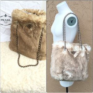 Prada - Prada white faux fur clutch from Leslie\u0026#39;s closet on Poshmark