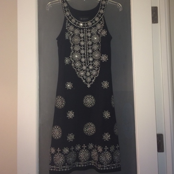 INC International Concepts Dresses   Skirts - INC black dress with silver  embroidery! d2419c029