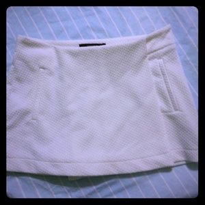 New Forever 21 white mini skirt skort
