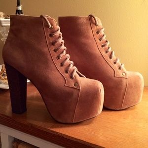 AUTHENTIC JEFFREY CAMPBELL LITA LACE UP BOOTIE