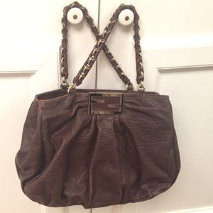 Authentic Fendi large leather handbag