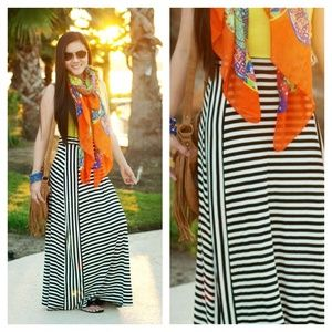 BOUTIQUE ITEM Lime and Stripes Maxi Dress