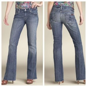 7 For All Mankind Blue A Pocket Light-wash Jeans
