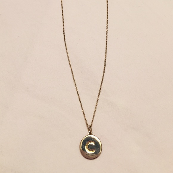 kate spade one in a million initial necklace c