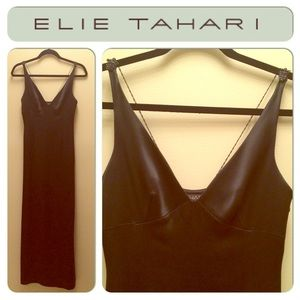 Elie Tahari Black Evening Gown Prom Dress SZ.2