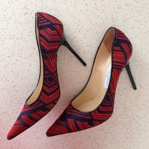 Jimmy Choo Shoes - ⚡️SALE TODAY⚡️Jimmy Choo Agnes navy/red stiletto