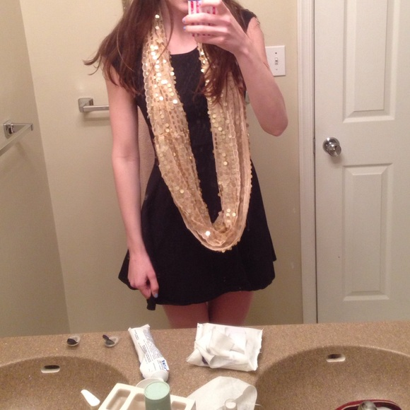 60 Off Apt 9 Accessories Gold Sequined Infinity Scarf