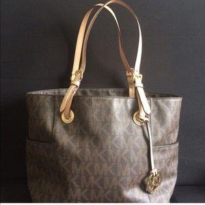 Michael Kors Brown Leather Purse