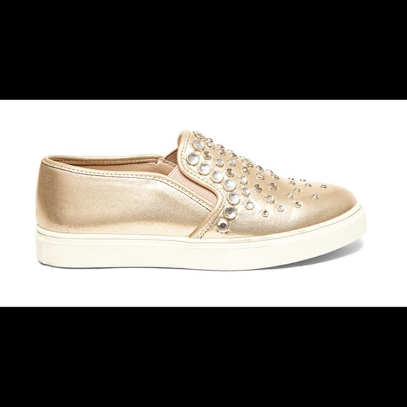 c94ba21a1f5 Steve Madden ellis jeweled slip on sneakers
