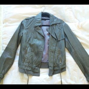 Faux Moto Leather Jacket -- super cute for Spring!