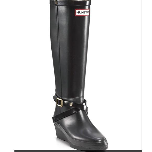 60 off hunter boots boots hunter black matte rain boots