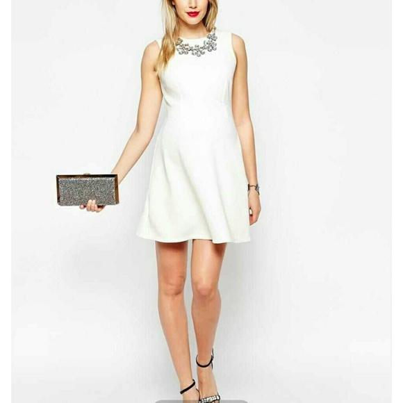 H&M - Sold in bundled.New H&M White Skater Dress Sequin from ...