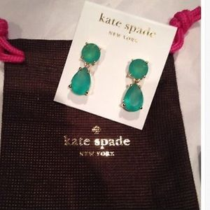 New with tag! Kate Spade drop earrings - mint