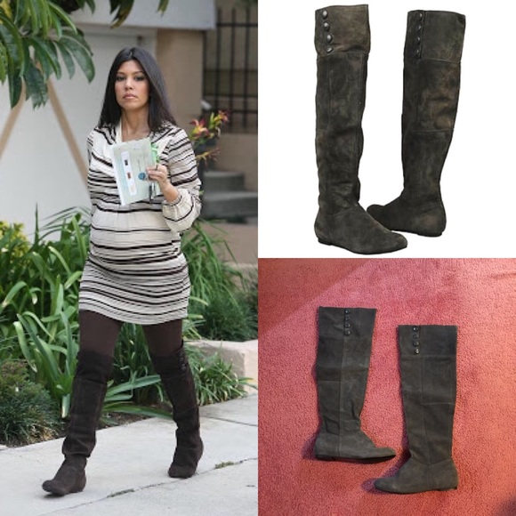 4756ea74a31 Chinese Laundry grey suede over the knee boots 8.5