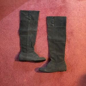 Chinese Laundry grey suede over the knee boots 8.5
