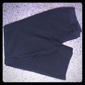 Black pinstripe dress pants