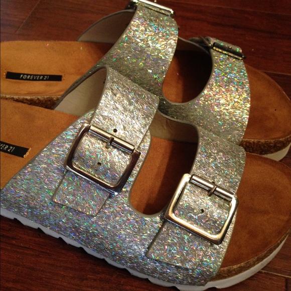 2bce586cc6b Glitter Birkenstock style sandals. M 54fb564f729a665d1d003537