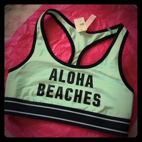 edcb698af1bef Aloha Beaches sport bra   Pink crop   Haut court