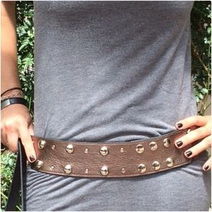 Accessories - Gold belt with silver studs
