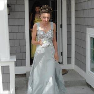 Dresses & Skirts - Bird's egg blue sequin prom dress
