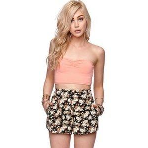 Pants - ❤ | HP | floral boho high waist shorts |