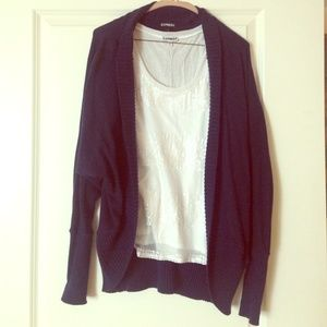 Express Navy Blue Sweater Cardigan