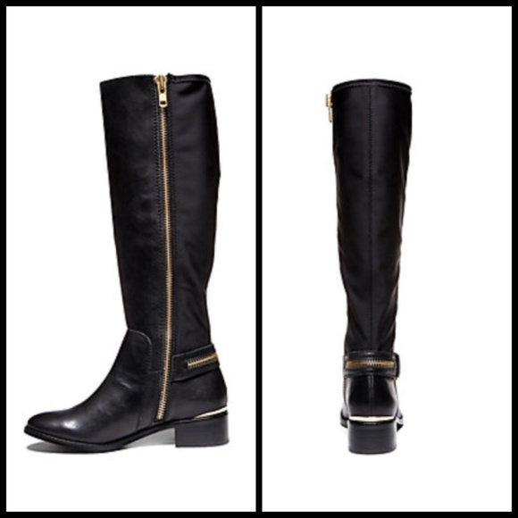 daf6c795f16 Steve Madden ryperr black leather tall boots NWT