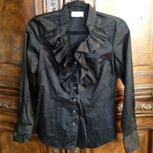 Ann Taylor Loft Tops - Ann Taylor Loft Ruffle Shirt