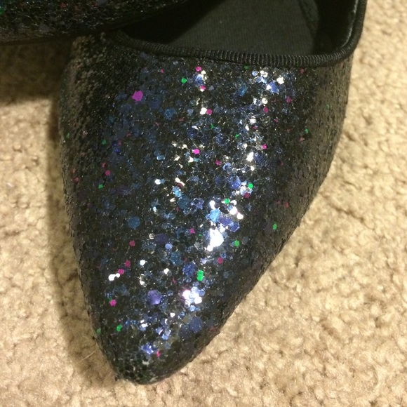 Glitter Pointe Glitter Pointed Toe Flats