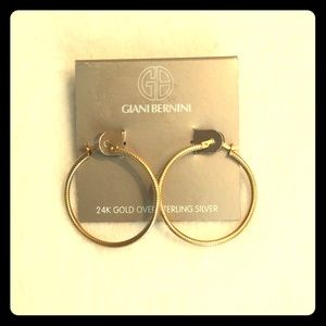 NEW - Giani Bernini - Gold Hoop Earrings