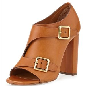 Chloe Double Monk Strap Brown Leather Bootie 10NWT