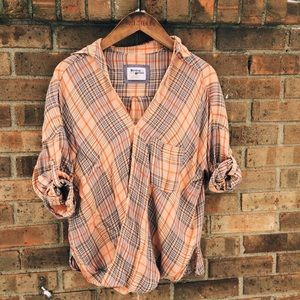 Anthropologie Plaid Blouse