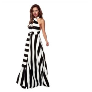 SALE B&W Convertible Maxi Dress