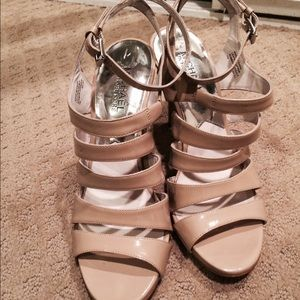 Nude Michael Kors strappy  heels size 7.