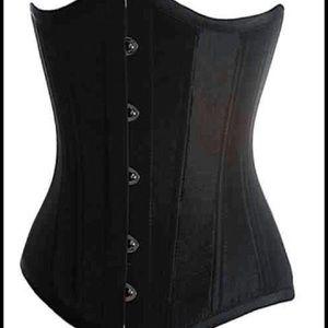 Tops - Black training corset.